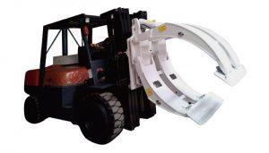 Forklift ekleri 360 dönme tek kollu kağıt rulo kelepçeleri
