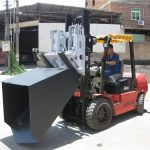 3 ton Hyundai Dizel Forklift Eklenti Kova Menteşeli Çatal ve Kova