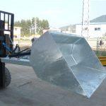 Kepçe ile 3 ton Forklift, hidrolik kepçe